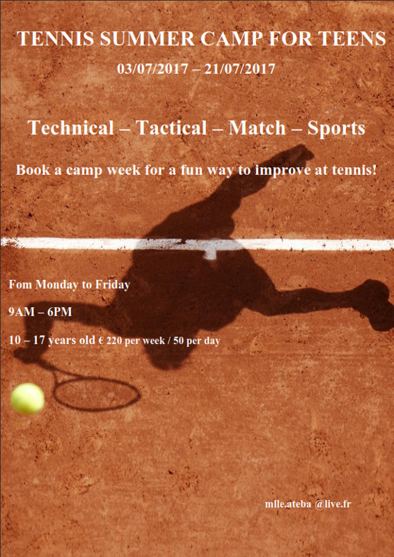 Teens summer tennis camp 566x800